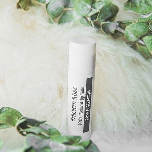 Rose & Geranium lip balm